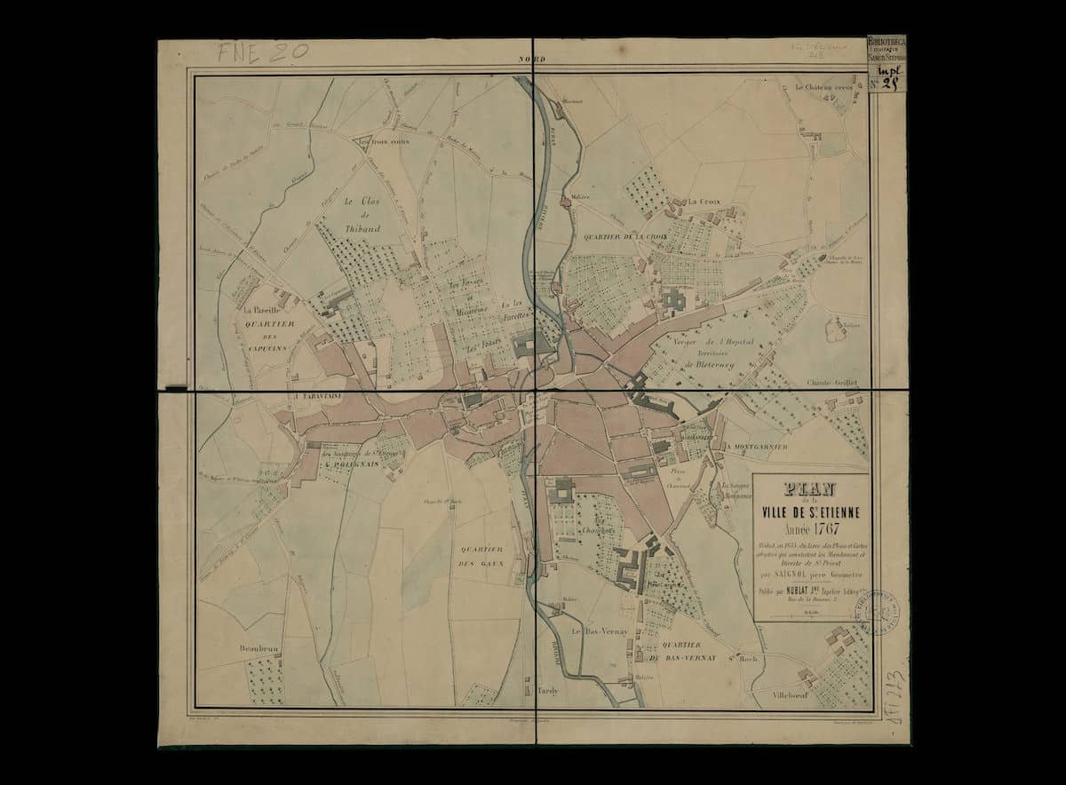 1 FI SAINT.ETIENNE 213, plan de la ville, 1767