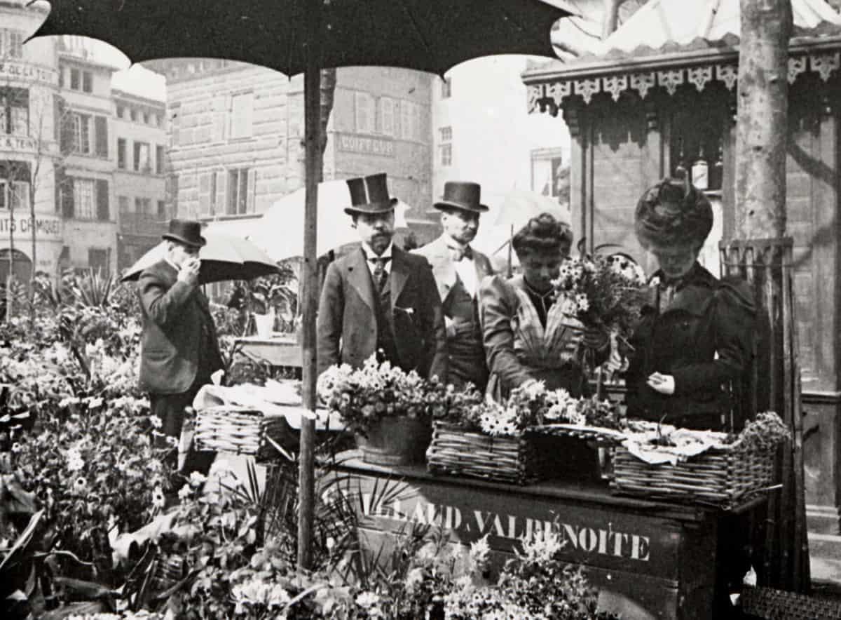 8 FI 211, place du Peuple, marché aux fleurs, fin du XIXe siècle