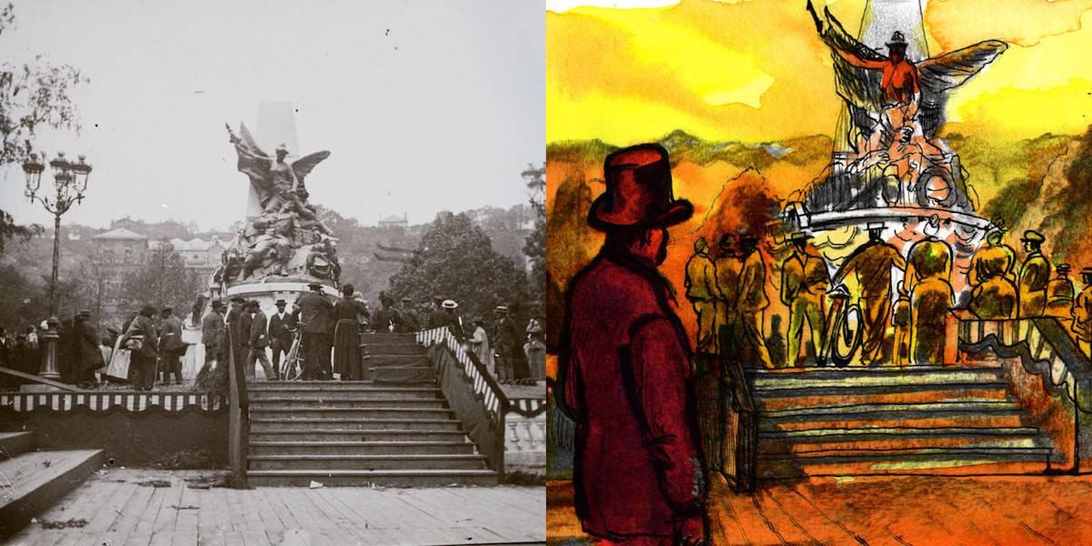 8 FI 180, Place Jovin-Bouchard, monument des Anciens Combattants, 1870