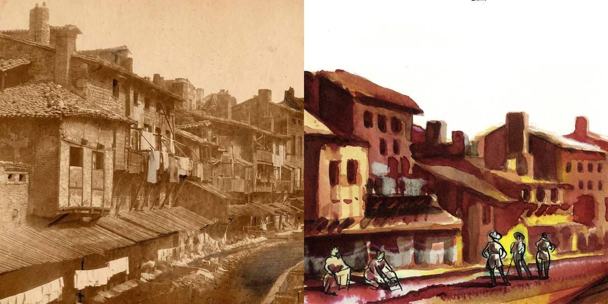 1 O ICONO 74 (2), quartier des Gauds avant régénération, 1856