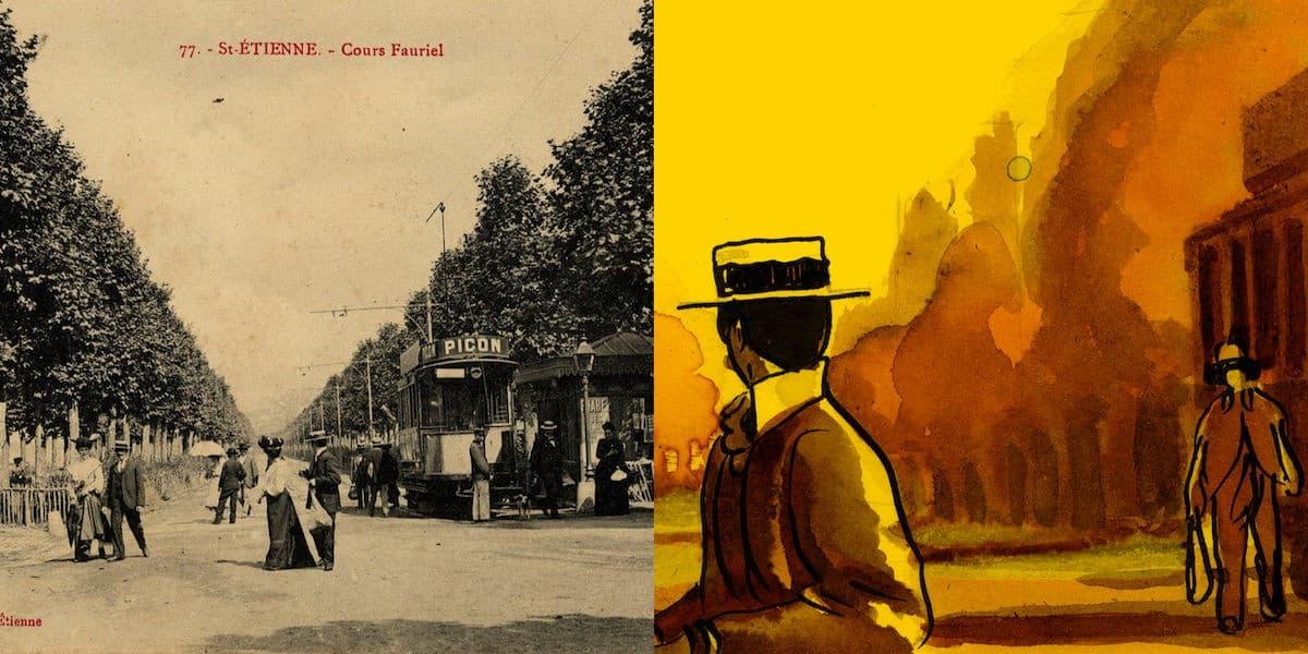 2 FI ICONO 3923, cours Fauriel, 1900